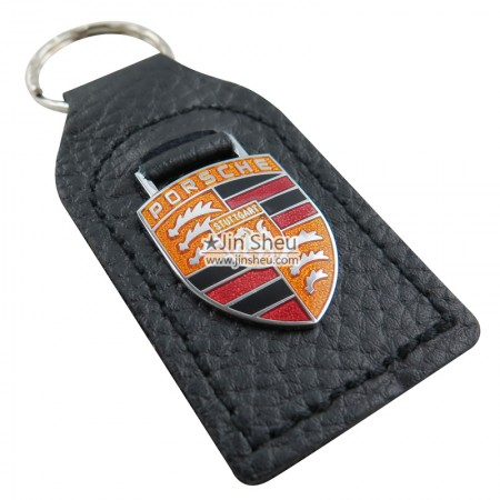 Car Brand Leather Keychains - Car Porsche Leather Keychains