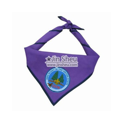 Custom Scout Neckerchiefs - Embroidered logo scout neckerchiefs