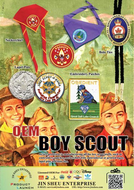 Muokkaa Boy Scout -korjauksia ja Neckerchiefia - Boy Scout Item