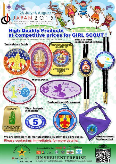 Custom Tyttö & Poika Scout Patchit ja Neckerchiefs - Custom Made Girl Scout -tuotteet