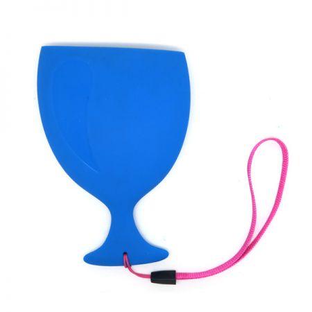 Copa de viaje plana de silicona - Taza plana de silicona taza portátil
