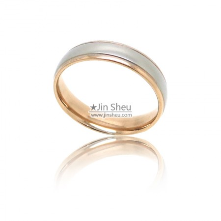 Two finishing stainless steel jewelry rings