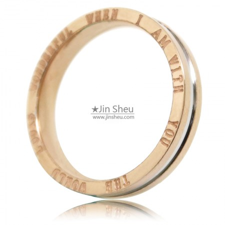 stainless steel rings with side text
