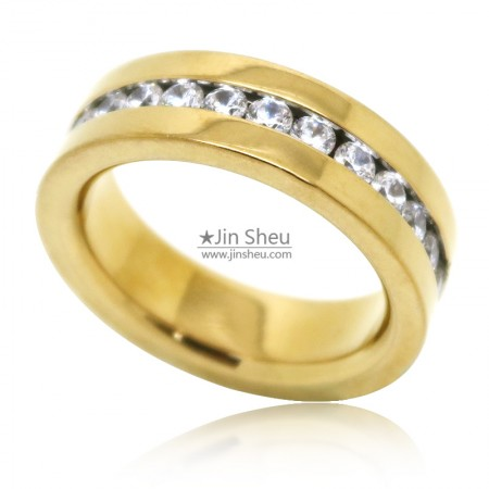 Gold finishing stainless steel rings