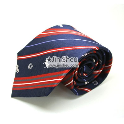 Suit Tie with Woven Logos - Custom Woven Logos on Necktie