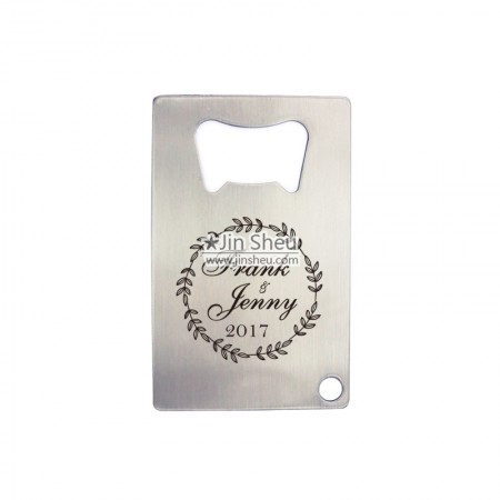 Wedding Favor Name Card Bottle Opener - wedding gift bottle opener card