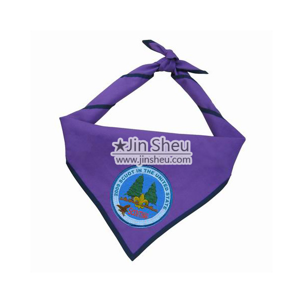 Embroidered logo scout neckerchiefs