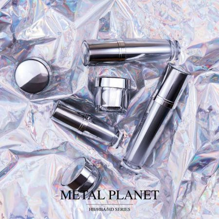 Metal Planet (Metallized Round Acrylic Cosmetic Packaging)