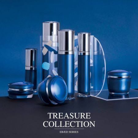 Treasure Collection (Edged Cap Round Acrylic Cosmetic Packaging Series)