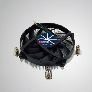 Equipped with radial aluminum cooling fins and silent fan, this CPU cooler can centralize airflow and effectively enhance thermal dissipation.