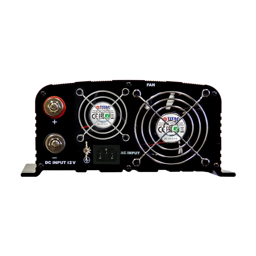 1500w Pure Sine Wave Power Inverter 12v 24v Dc To 240v Ac Instant The Front Of Panel Is Equipped With Input Batteray Terminals Red For