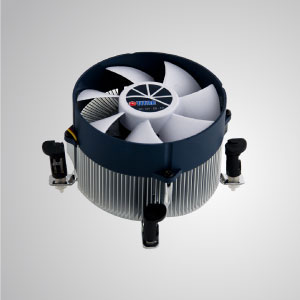 Intel LGA 1366- Equipped with radial aluminum cooling fins, 30mm pure copper base and 90mm giant silent fan.