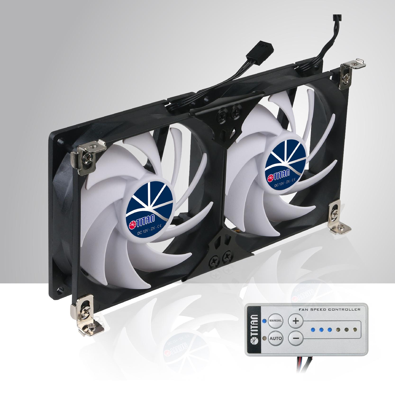 12v dc double rack mount ventilation cooling fan for. Black Bedroom Furniture Sets. Home Design Ideas