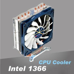 Intel LGA 1366 CPU Cooler - Aluminum cooling fins and copper base optimize the heat dissipation.