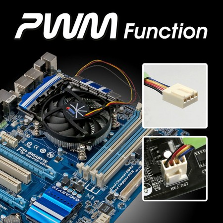 DC-150A915Z/RPW: Intelligent PWM controller for excellent balanced noise and cooling performance. TITAN High value CPU cooling cooler package.