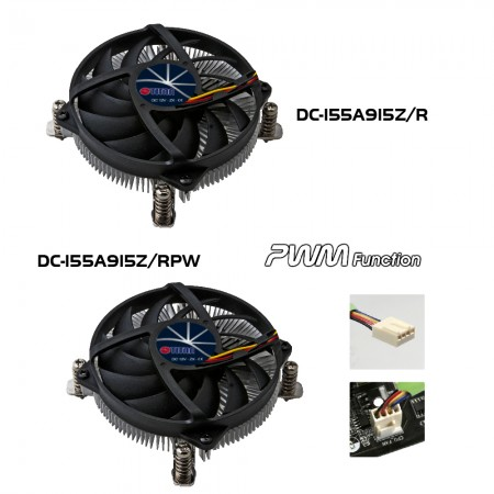 DC-155A915Z Series CPU Cooler Model illustration