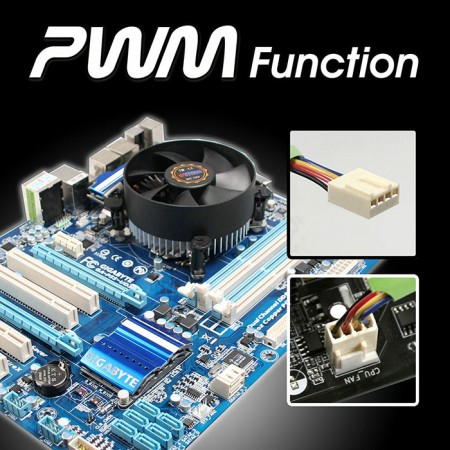 With wide-ranged PWM fan, it creates an excellent balanced customizable speed and cooling performance.