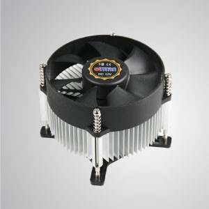 Intel LGA 775 CPU Air Cooler with 95mm Fan and Aluminum Cooling Fin / TDP 65-75W - Equipped with radial aluminum cooling fins and 95mm giant silent fan, this CPU cooling cooler is capable of accelerating heat transfer