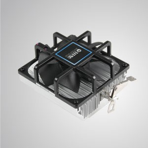 12V DC AMD CPU Air Cooler with 90mm Frameless Fan and Aluminum Cooling Fins/ TDP 65W - Equipped with radial aluminum cooling fins, 35mm pure copper base and 90mm silent framless fan, this CPU cooling cooler is capable of accelerate heat transfer.