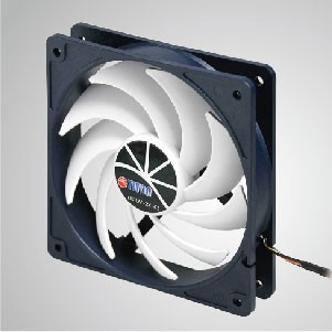 12V DC 120mm Kukri Silent Cooling Fan with 9-blades and PWM Function