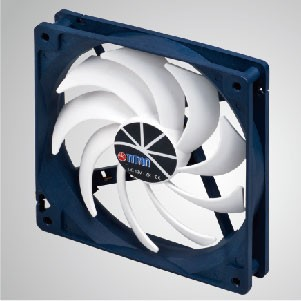 12V DC 140mm Kukri Silent Cooling Fan with 9-blades and PWM Function