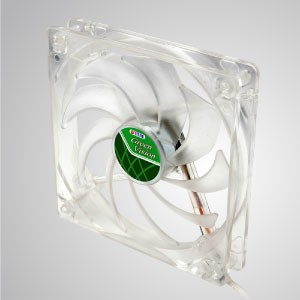 12V DC 140mm Kurkri Silent Transparent Green Cooling Fan with 9-blades - With transparent green frame and 140mm silent fan with 9-blades, creating great cooling performance
