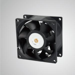 Ventilador de enfriamiento de CC con 80 mm x 80 mm x 38 mm serie - El ventilador de enfriamiento TITAN- DC con ventilador de 80 mm x 80 mm x 38 mm proporciona tipos versátiles para las necesidades del usuario.