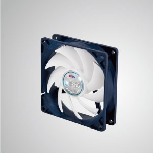 12V DC IP55  Waterproof / Dustproof Case Cooling Fan / 92mm - TITAN- IP55 waterproof & dustproof cooling fan is suitable for humid/dust-exist environment or precise instrument.