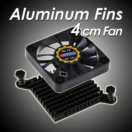 Aluminiumlamellen für optimale Wärmeableitung.