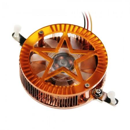 Mit 40mm Kühllüfter und Lötflossen ist dies ein DIY-Einbaukühler für VGA- und Chipsatz-Kühlung.