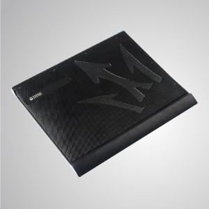 "5V DC 10"" - 15"" Laptop Notebook Cooler Cooling Alumiunum Pad with Ultra Slim Portable USB Powered - Equipped with 80mm fan and mesh surface, it can effectively accelerate airflow to transfer heat"