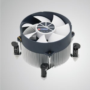 Intel LGA 1155/1156 CPU Air Cooler with Aluminum Cooling Fins - Equipped with radial aluminum cooling fins and silent fan, this CPU cooler can centralize airflow and effectively enhance thermal dissipation