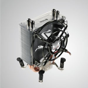 Universal - CPU Air Cooling Cooler with 2 DC Heat Pipes Transfer / Skalli Series / TDP 130W - TITAN - Silent CPU Cooling Cooler with Heat Transfer