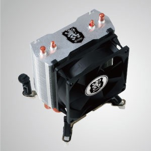 Universal - CPU Air Cooler with 2 DC Heat Pipes and 80mm Fan / Mounting System for two fans / TDP 105W -Support AMD Socket AM4