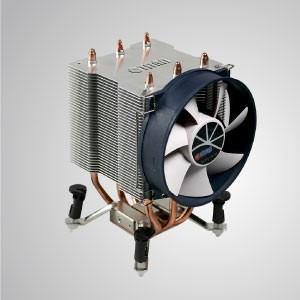 Intel LGA 1366- CPU Air Cooler with Aluminum Cooling Fins / TDP 140W - Equipped with three 6mm heat pipes, aluminum cooling fins, pure copper base and 90mm giant silent fan, this CPU cooling cooler is capable of accelerate heat transfer.