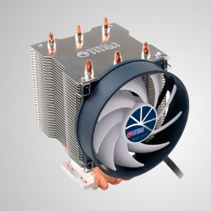 Universal- CPU Air Cooler with 3 DC Heat Pipes and 95mm 9-blades Cooling  Fani/ TDP 140W - Universal CPU cooling cooler with 3 direct contact heat pipes and 95mm PWM Silent fan. Provide great CPU cooling performance.