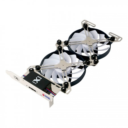 Unique double X holder design to provide multiple options for fan sizes from 60mm to 90mm.