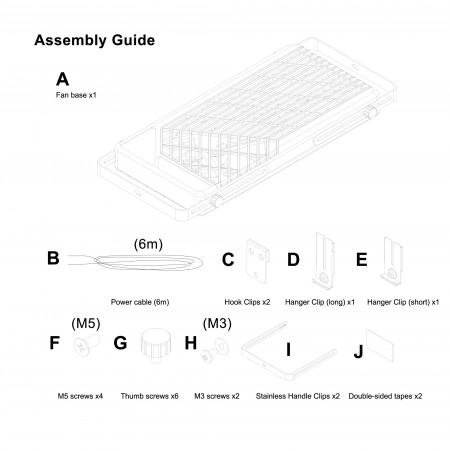 All assemblyof window rack double fan