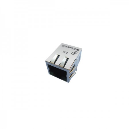 Single Port 10/100Base-TX PoE & PoE+ RJ45 Jack with Magnetics - Single Port 10/100Base-TX PoE & PoE+ RJ45 Jack with Magnetics
