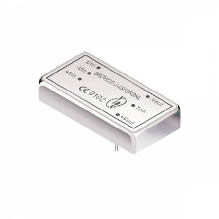 20W 3KV Isolation 4:1 DIL DC-DC Converter (For Railway) - 20W 3KV Isolation 4:1 DIL DC-DC Converter