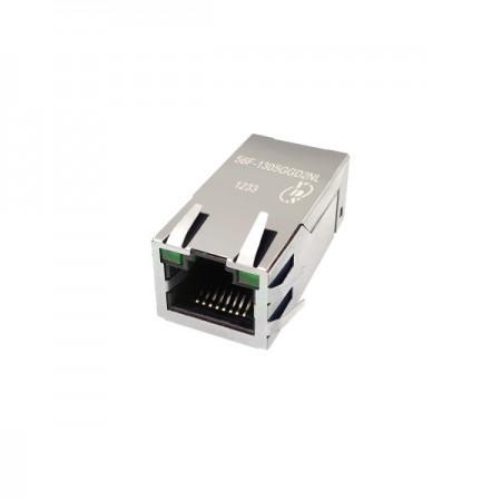 Single Port 10/100/1000/10GBase-T RJ45 Jack with Magnetics - Single Port 10/100/1000/10GBase-T RJ45 Jack with Magnetics