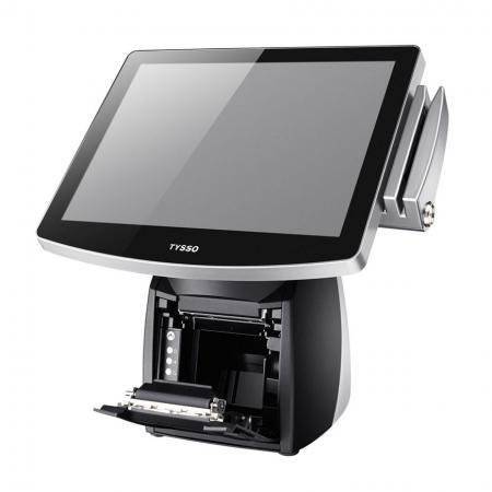 POS收銀機搭配三吋收據印表機