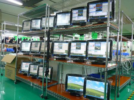 Burn-In tests completed and performing output quality tests of POS products