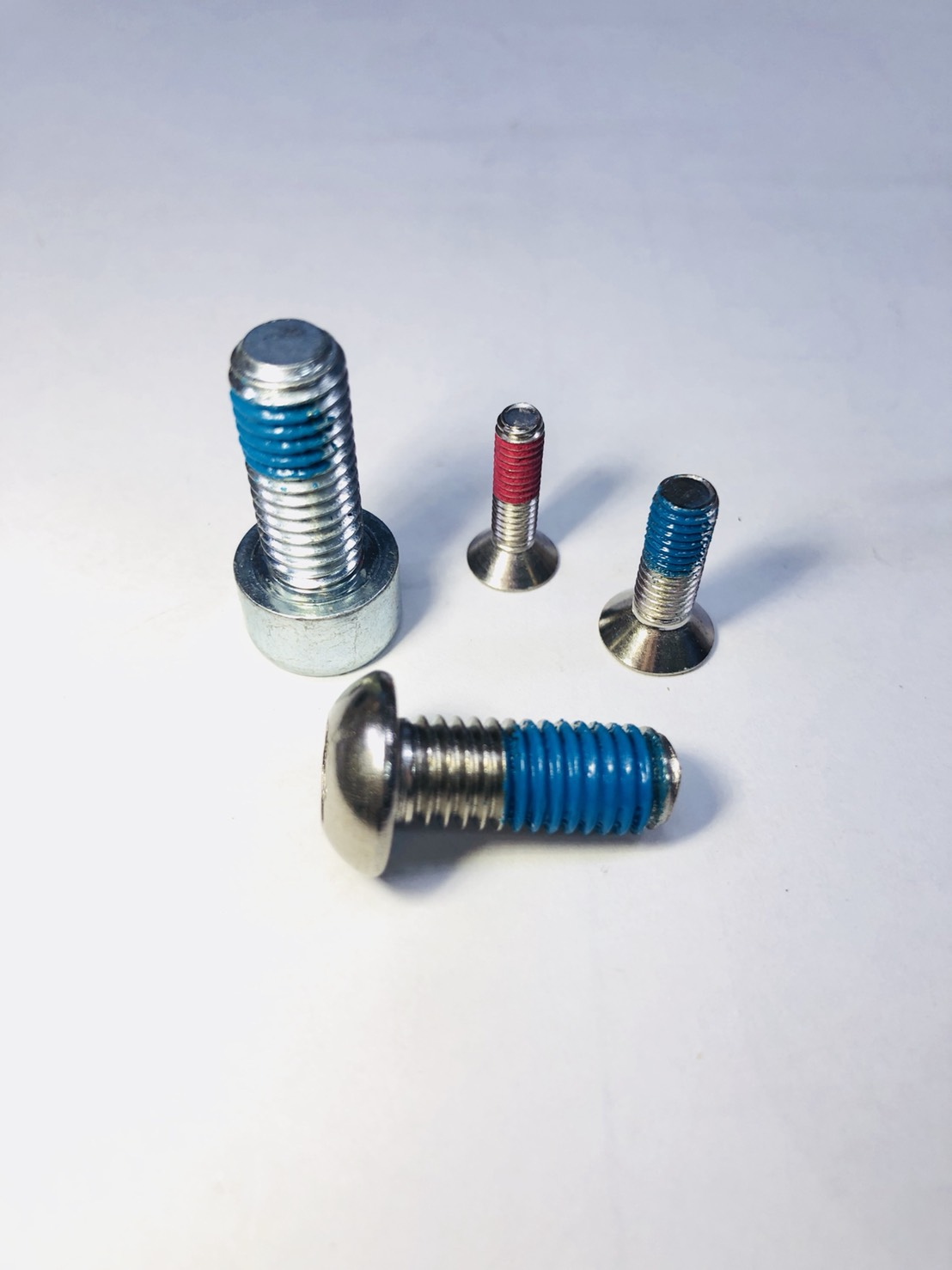Hex head bolts, Carriage bolts, Truss head bolts, Hex washer head bolts, and T bolts.