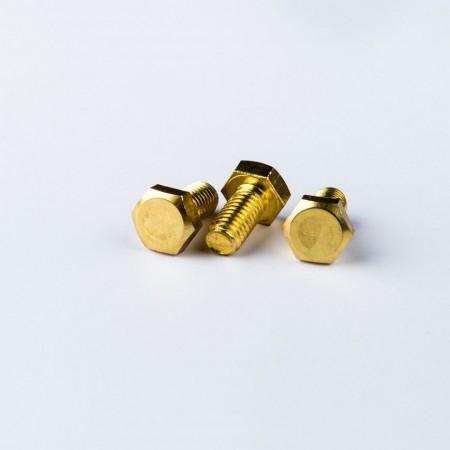 Brass Hex Head Screw - Brass Hex Head Screw according to DIN931 Standard w/ Machine Thread