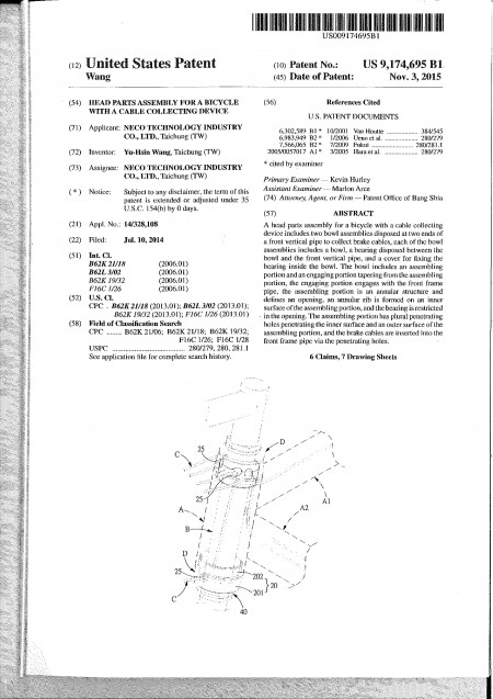 USA Patent No. US9174695B1-P2