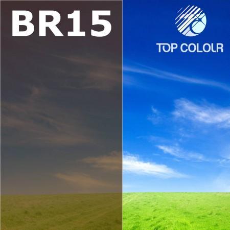 Glue tinted window film BROWN 15% - Tinted sun control film BR15