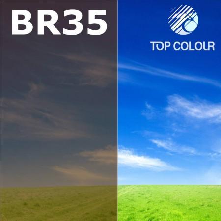 Glue tinted window film BROWN 40% - Tinted sun control film BR35