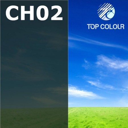 Glue tinted window film CHARCOAL 2% - Tinted sun control film CH02