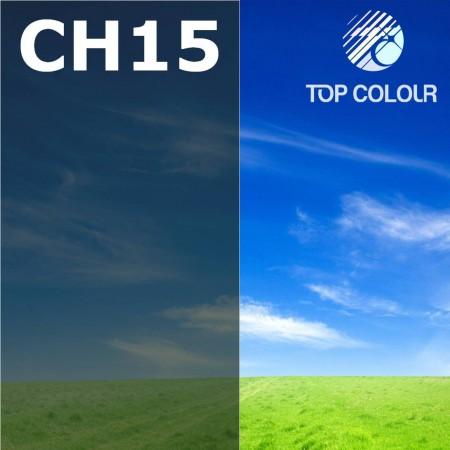 Glue tinted window film CHARCOAL 15% - Tinted sun control film CH15